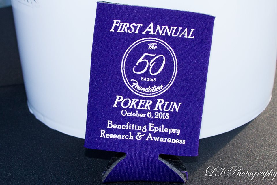 2018 poker run koozie